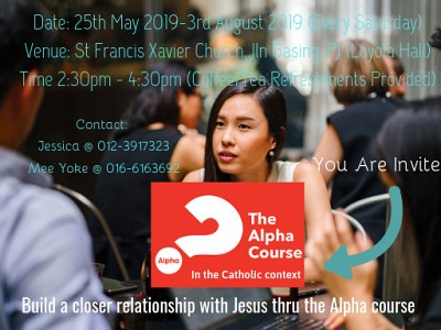 The Alpha Course - In the Catholic Context (You are invited!)