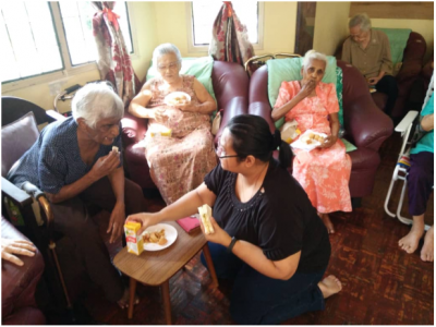 Outreach Brings Cheer to Retirement Home